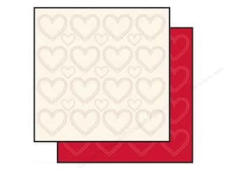 Anna Griffin Hearts: Anna Griffin 12 x 12 in. Cardstock Stitched White/Red 2 pc.