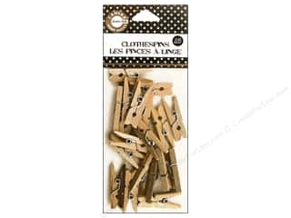 Canvas Home Basics Blue: Canvas Corp Mini Clothespins 25 pc. Natural