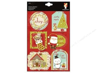 Winter Wonderland: Imaginisce Sticker Santa's Stacker Wntr Wonderland