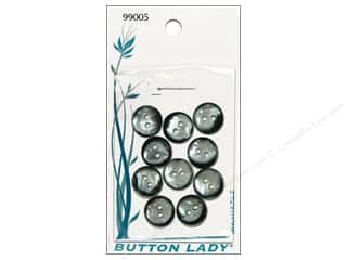 JHB: JHB Button Lady Buttons 1/2 in. Smoke Shell 10 pc.