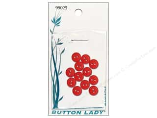 JHB 10 mm: JHB Button Lady Buttons 3/8 in. Red #99025 12 pc.