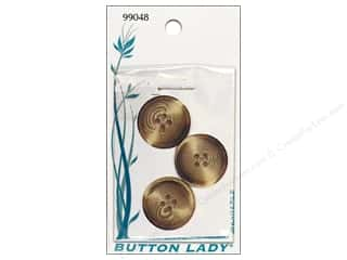 JHB Button Lady Buttons 7/8 in. Brown #99048 3 pc.