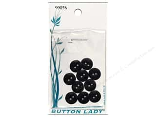 JHB: JHB Button Lady Buttons 1/2 in. Black #99056 10 pc.