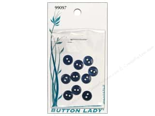 JHB: JHB Button Lady Buttons 1/4 in. Navy #99097 10 pc.
