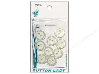 shiny $9 - $12: JHB Button Lady Buttons 1/2 in. Pearlized White #99107 9 pc.
