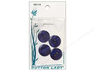 JHB Button Lady Buttons 3/4 in. Navy #99119 4 pc.