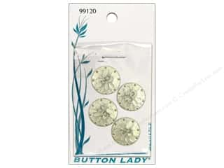JHB Button Lady Buttons Silver 5/8&quot; 4pc