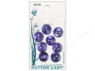 JHB Button Lady Buttons 1/2 in. Pearlized Purple 8 pc.