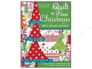 "Books & Patterns 11"": C&T Publishing Quilt a New Christmas with Piece O'Cake Designs Book by Becky Goldsmith and Linda Jenkins"