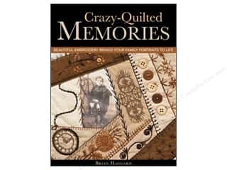 Book-Needlework: C&T Publishing Crazy Quilted Memories Book by Brian Haggard