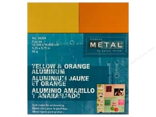 Creative Metal Aluminum 5 1/4 x 5 3/4 in.Yellow & Orange