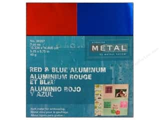 Creative Metal Aluminum 5 1/4 x 5 3/4 in. Red & Blue