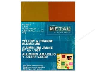 Creative Metal Aluminum 4 1/4 x 5 1/2 in Yellow & Orange