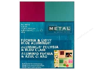 Creative Metal Rectangles 4 1/4 x 5 1/2 in. Fuchsia & Blue