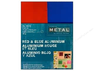 Creative Metal Aluminum 4 1/4 x 5 1/2 in Red & Blue