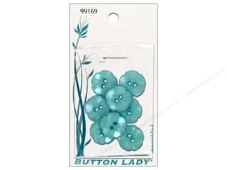 "JHB Button Lady Buttons Blue 5/8"" 8pc"