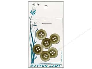 Framing Cream/Natural: JHB Button Lady Buttons 5/8 in. Olive #99176 6 pc.