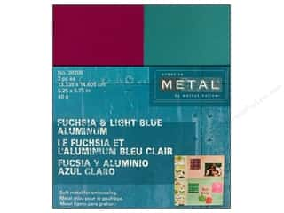 Creative Metal Aluminum 5 1/4 x 5 3/4 in. Fuchsia & Blue