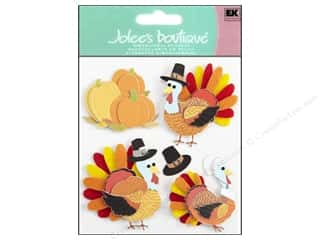Jolee's Boutique Stickers Turkey Characters