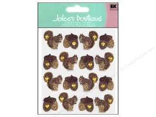 Fall / Thanksgiving EK Sticko Stickers: Jolee's Boutique Stickers Repeats Acorns & Squirrel