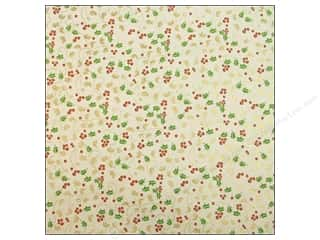 Anna Griffin Paper 12x12 Twinkle Bright Holly Gold (25 sheets)