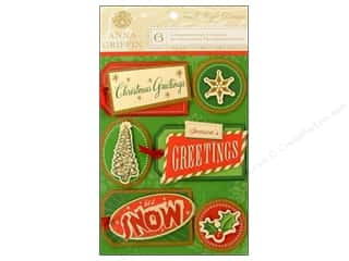 Anna Griffin Sticker Twinkle Bright 3D Small Tags