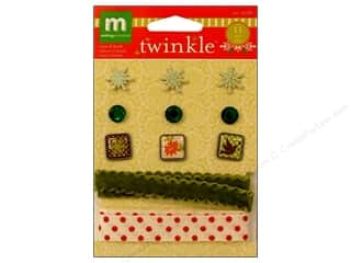 Making Memories Embellishments Trims & Brads Twinkle
