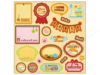 Kitchen > Scrapbooking &amp; Paper Crafts: Best Creation Expression Chipboard Moms Kitchen