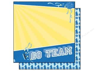 Clearance Best Creations Paper 12x12: Best Creation 12 x 12 in. Paper Team Spirit Go Team (25 sheets)