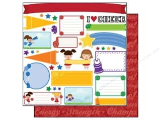 Clearance Best Creation Collection Kit: Best Creation 12 x 12 in. Paper Team Spirit Cheer Tags (25 sheets)