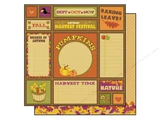 fall sale: Best Creation 12 x 12 in. Paper Hello Fall Harvest Time (25 sheets)
