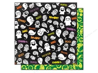 Best Creation Printed Cardstock: Best Creation 12 x 12 in. Paper Happy Haunting Gim Grinning Ghosts (25 sheets)