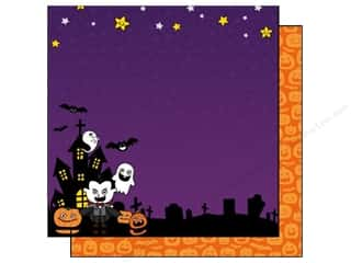 Clearance Best Creations Paper 12x12: Best Creation 12 x 12 in. Paper Happy Haunting Collection The Count (25 sheets)