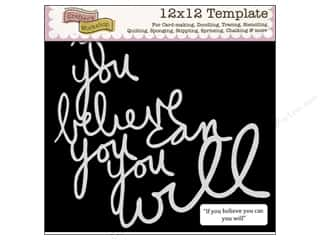 The Crafters Workshop Template 12x12 You Believe