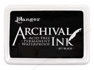 Stamping Ink Pads Fabric Painting & Dying: Ranger Archival Ink # 0 Pad Jet Black