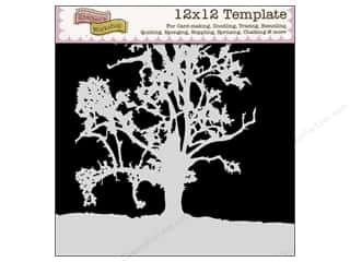 Clearance The Crafters Workshop Template: The Crafter's Template 12 x 12 in. Treescape