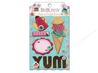 Bo Bunny Sticker Chipboard Layered Sweet Tooth