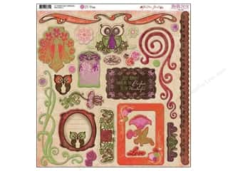 Bo Bunny Sticker Chipboard 12x12 Garden Girl