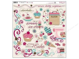 Kitchen > Scrapbooking &amp; Paper Crafts: Bo Bunny Sticker Chipboard 12x12 Sweet Tooth