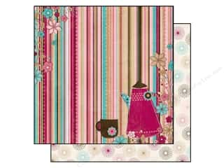 Bo Bunny Paper 12x12 Sweet Tooth Stripes (25 sheets)