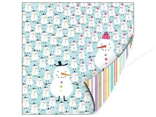 "SEI Paper 12x12"" DS Holiday Cheer Gltr Frsty&Frany (25 sheets)"
