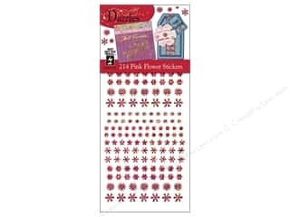 Hot off the Press Clearance Crafts: Hot Off The Press Stickers Dazzles Pink Flower