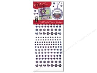 Hot off the Press Black: Hot Off The Press Stickers Dazzles Purple Flower