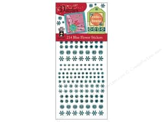 Hot off the Press Clearance Crafts: Hot Off The Press Stickers Dazzles Blue Flower
