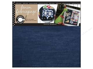 "Canvas Corp Blank Fabricpage 12x12"" Denim"