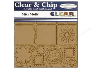 Chipboard Shapes  Flowers: Clear Scraps Album Clear N Chip Mini Flower Molly