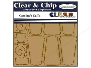 Cups & Mugs Brown: Clear Scraps Clear N Chip Mix Pack Caroline's Caffe