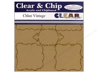 chipboard shapes: Clear Scraps Album Clear N Chip Mini Frames Chloe