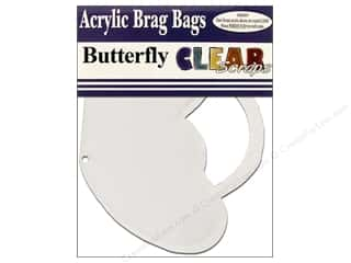 Purses Clear: Clear Scraps Clear Brag Bag Album Butterfly