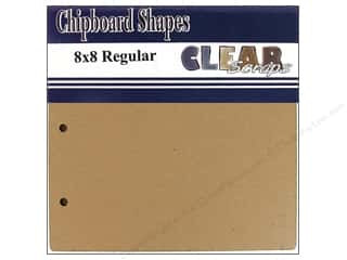 Clear Scraps Album Chip 8x8 Square Regular